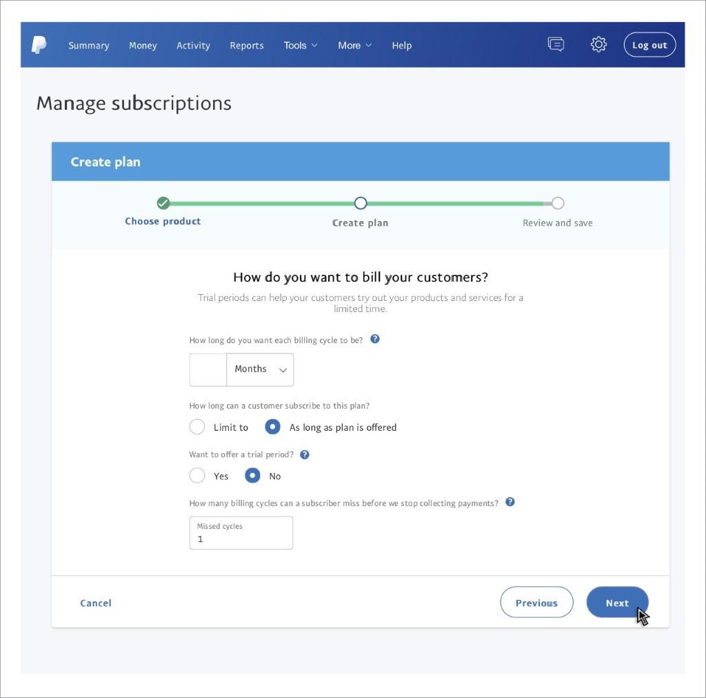 PayPal Subscription Setup Step 6