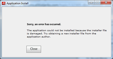Installer File Error