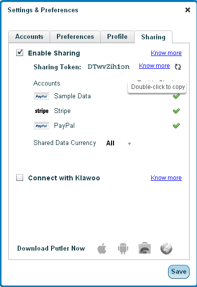 Steps to Enable Sharing of Putler Data