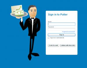Signing in to Putler