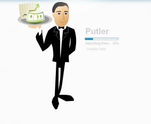 Putler Imports Sample Data at the Start