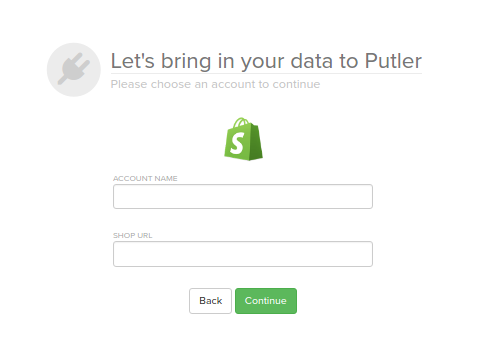 Setting up a Shopify account in Putler using API