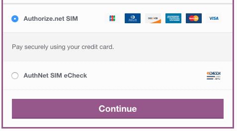 Authorize.Net SIM dashboard